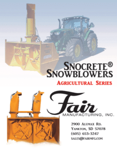 Snocrete® Agriculture Series Snowblower Brochure