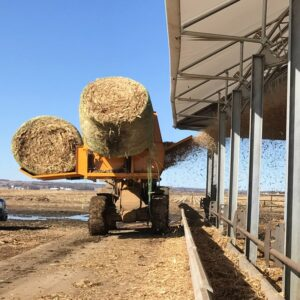 7200-LMH Bale Processor with 3 bales