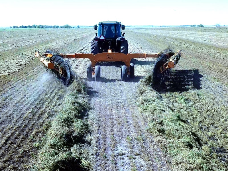 Turn hay windrows with the Fair Manufacturing Hay Rake